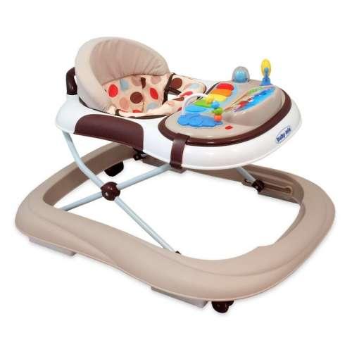 Baby Mix bébikomp Latte színben játékokkal