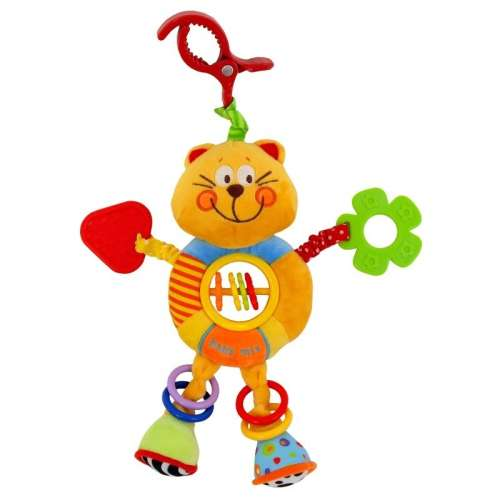 Baby Mix cicás babahordozóra vagy babakocsira szerelhető plüssjáték rágókával