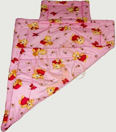 3 részes pamut babaágynemű - macis #rózsaszín