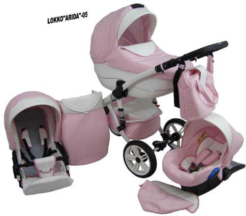 Babycruiser Arida Babakocsi KOL:05 #rózsaszín-fehér
