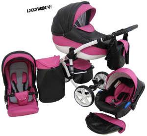 Babycruiser Arida Babakocsi KOL:01 #fekete-rózsaszín 30324106