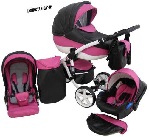 Babycruiser Arida Babakocsi KOL:01 #fekete-rózsaszín