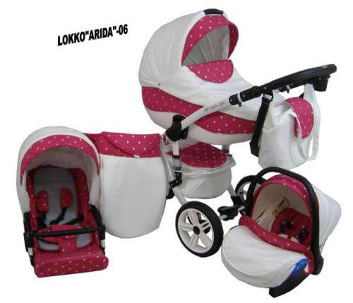 Babycruiser Arida Babakocsi KOL:06 #fehér-rózsaszín