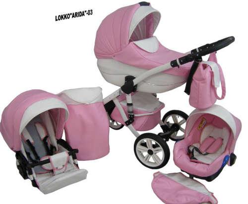 Babycruiser Arida Babakocsi KOL:03 #rózsaszín-fehér