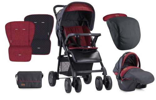 Lorelli Aero SET Babakocsi #fekete-piros 2018