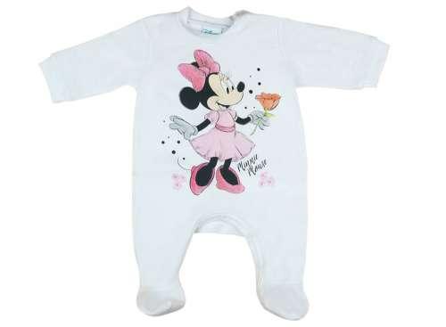 Disney Minnie hosszú ujjú vékony egyszínű Rugdalózó