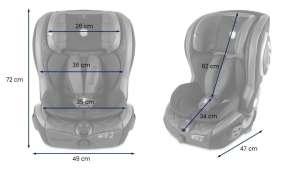 Lionelo Jasper Leather ISOFIX Biztonsági Autósülés 9-36kg #szürke