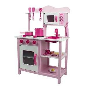 Classic fa Játékkonyha + Ajándék konyha szett #rózsaszín 30301053 Babakonyha / Játékkonyha