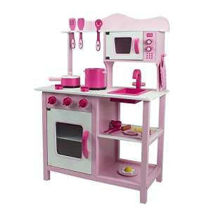 Classic fa Játékkonyha kiegészítőkkel #rózsaszín 30301053 Babakonyha / Játékkonyha