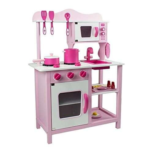 Classic fa játékkonyha + Ajándék konyha szett #pink