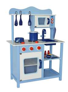 Classic fa Játékkonyha + Ajándék konyha szett #kék 30301061