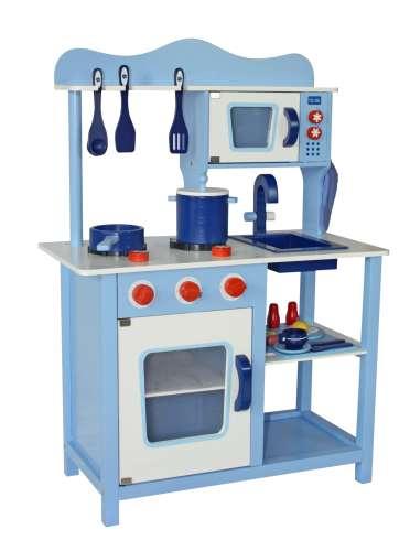 Classic fa játékkonyha + Ajándék konyha szett #kék