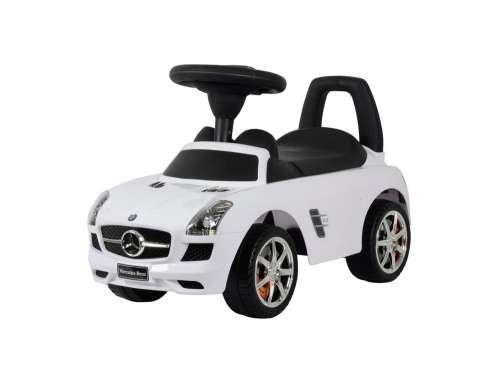Baby Mix Mercedes lábbal hajtható zenélő autó gyerekeknek #fehér