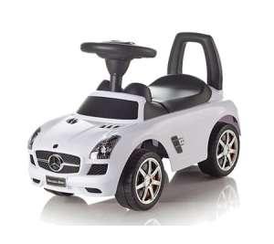 Baby Mix Mercedes lábbal hajtható zenélő Autó #fehér