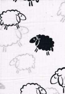 1db-os mintás pelenka #fekete bárány 30324081 Textil pelenka