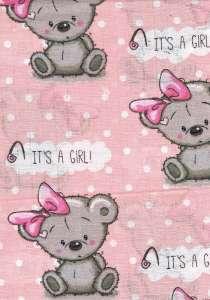 Textil pelenka 1db - Masnis maci #rózsaszín 30324085