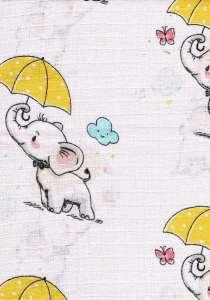 Textil pelenka 1db - Elefánt #sárga 30311291