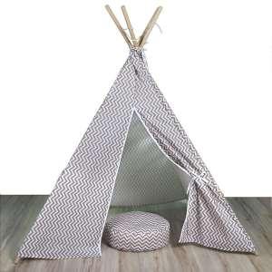 Davio Cikk-cakk mintás Indiánsátor #bézs 30770883 Indián sátor