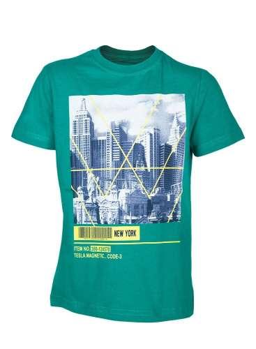 b0d6b73226 Fiú rövid ujjú Póló New York épületek mintával | Pepita.hu