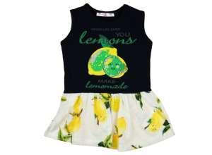 Lányka nyári ujjatlan Ruha citrom 30389604