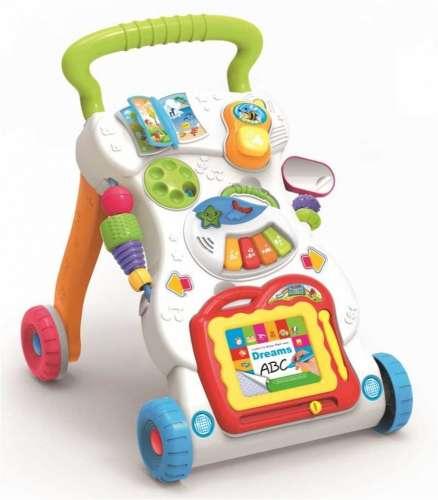 Baby Mix fejlesztő tolókocsi sok-sok játékkal