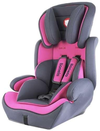 Lionelo Levi Plus Biztonsági Autósülés 9-36kg #rózsaszín