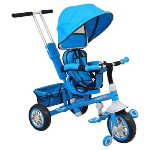 Baby Mix Odyssey Tricikli kupolával #kék 360°-ban forgatható ülés)