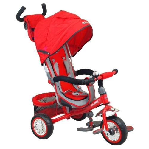 Baby Mix Prémium Tricikli tolókarral és lábtartóval #piros