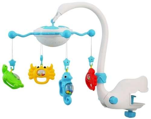 Baby Mix vizi állatkás zenélő-forgó játék és kivetítő kiságyra