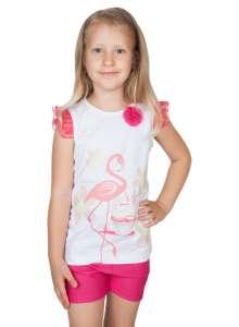 Lányka 2 részes Szett  - Flamingó #rózsaszín-fehér 30383401 Ruha együttes, szett gyerekeknek
