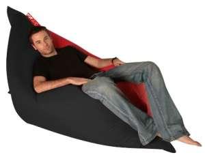 XXL Babzsák 2in1 #fekete-piros 30495759 Babzsák fotel, ülőke