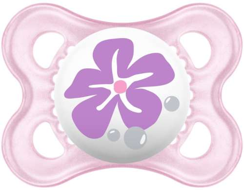 Mam 2-6+ Original szilikon cumi - Virág#lila
