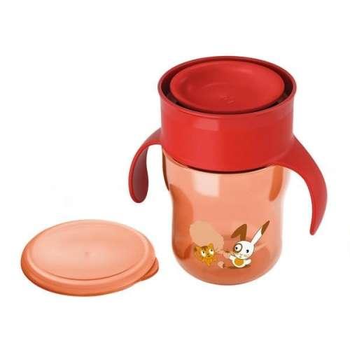 Avent Itató pohár 260 ml - Nyuszi, Cica #piros