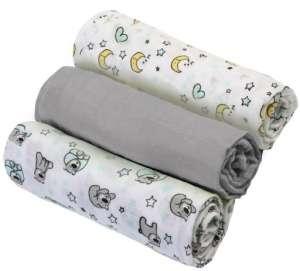 BabyOno színes Textil pelenka 3db - Maci #szürke 30332254 Textil pelenka