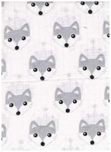 Textil pelenka 1db - Farkas #fehér-szürke 30332268