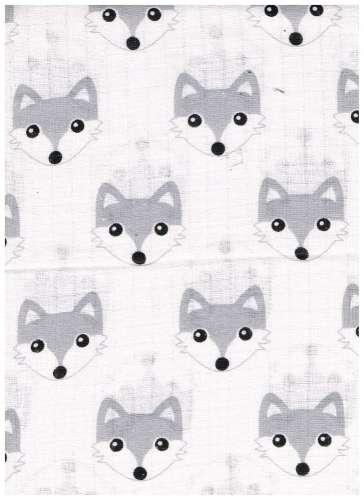 1db-os színes,mintás Textil pelenka #farkas