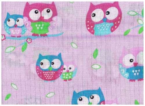 1db-os színes,mintás Textil pelenka #v.lila bagoly
