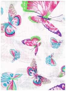 Textil pelenka 1db - Pillangó #fehér-rózsaszín 30332310 Textil pelenka