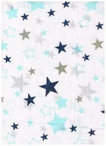 Textil pelenka 1db - Csillag #kék-szürke 30332499 Textil pelenka
