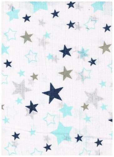 1db-os színes,mintás Textil pelenka  #kék-szürke csillagok