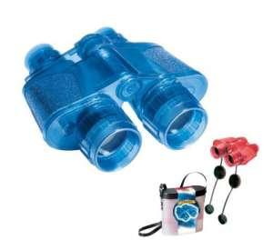 Kétcsövű gyerektávcső, transzparens piros vagy kék 30405296
