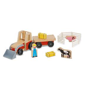 Melissa & Doug Fa jármű, Traktor kiegésztőkkel 30404784 Autós játékok, autó, jármű