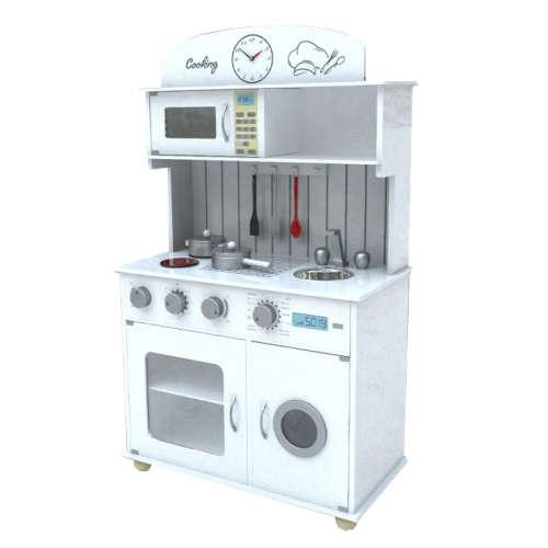 SOFIA WHITE fa játék konyha + ajándék konyhai felszerelés