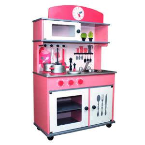 Róma fa Játékkonyha + ajándék konyhai szett #rózsaszín 30335218