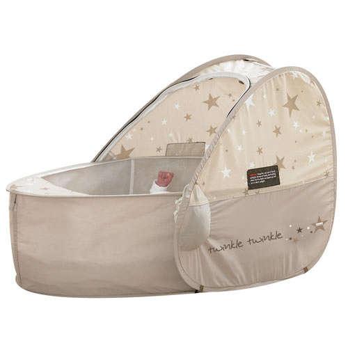 Pop Up Sun & Sleep travel bassinet-twinkle#bézs