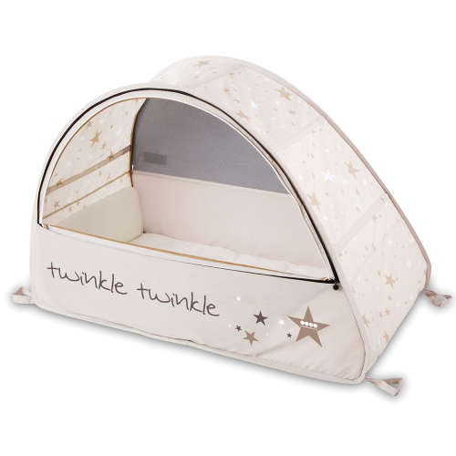 Pop Up Sun&Sleep travel bubble cot, twinkle#bézs