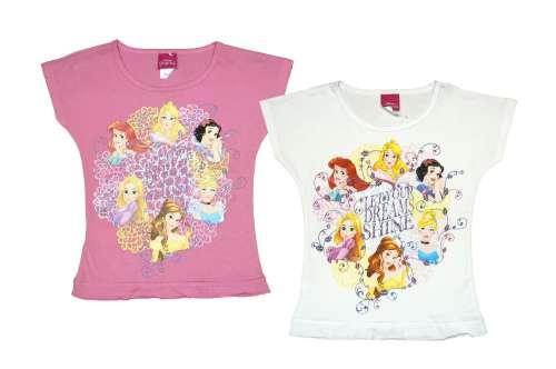 5ad6d3dfe3 Disney Hercegnők-Princess rövid ujjú gyerek póló (méret: 98-122 ...