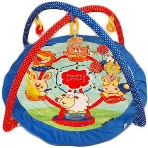 Baby Mix  játszószőnyeg -kék szélű kerek állatkás 30337003