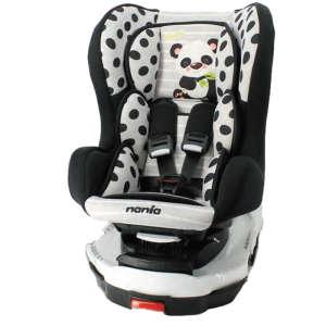 Nania Titan Isofix Animals biztonsági Gyerekülés 0-18kg - Panda #fekete-fehér