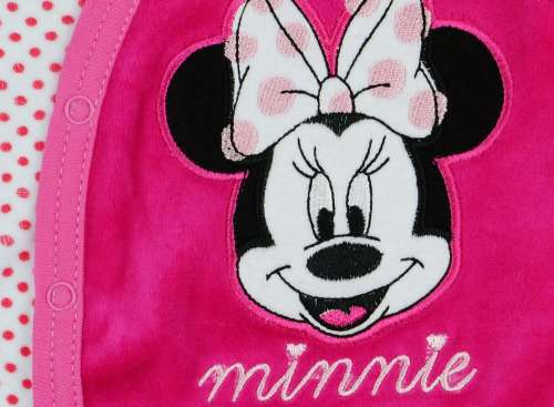 7163360ba0 Disney Minnie lányka ujjatlan plüss Rugdalózó   Pepita.hu